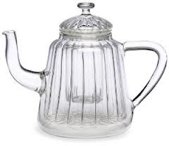 BonJour Insulated Oblong Ribbed Glass Teapot