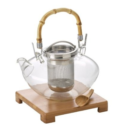 BonJour Zen 42-Oz. Glass Teapot with Stand & Scoop