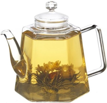 GROSCHE VIENNA Stove Top Water Kettle And Infuser Glass Teapot