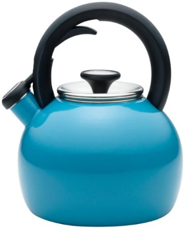 KitchenAid Teakettle 2-Quart Porcelain Enamel on Steel Globe Kettle