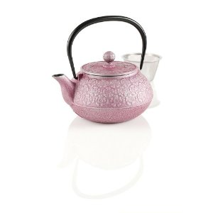 Teavana Small Japanese Cherry Blossoms Cast Iron Teapot